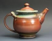 Stoneware teapot, pottery tea pot, ceramic teapot brick red 24 oz 3018