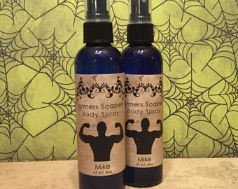 Mike Scented 4oz Body Spray - Crisp, Clean, Manly