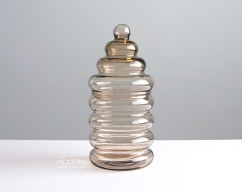 Holmegaard Primula Glass Canister Lidded Storage Jar Jacob Bang