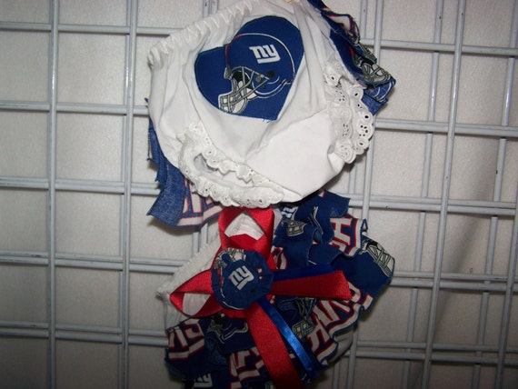 NY Giants Baby Girl Diaper Cover W/Back Ruffles Bloomers  Pro Tailgating Sports New Baby Coming Home Baby Shower Gift Mom Dad