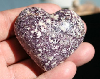 Lepidolite Heart Polished Stone