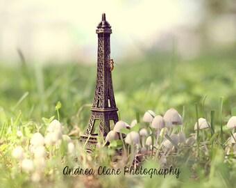 Eiffel Tower, Macro Photography, Architecture, Surreal, Whimsical, Nature, Bee, Bug, Mushroom, Nursery, Decor, Print, Photo, Still life, art