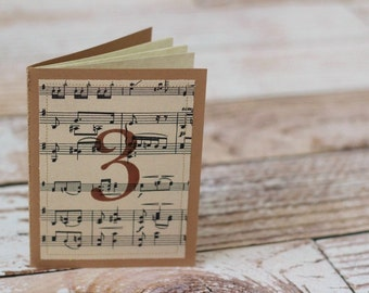 Guest book - Guestbook - Weddings - Table numbers - Decorations - Music sheet - Vintage - Wedding Decor