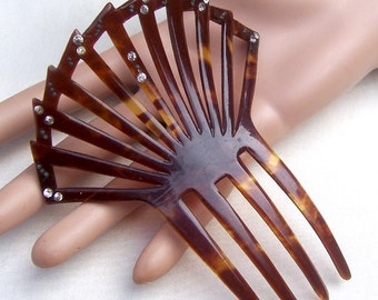 Art Deco faux tortoiseshell Spanish style hair comb hair accessory hair jewelry headdress headpiece