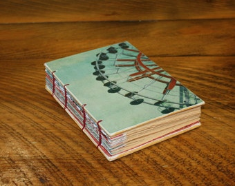 Ferris Wheel Handmade Journal- Carnival book -  Sketchbook - Graduation Gift