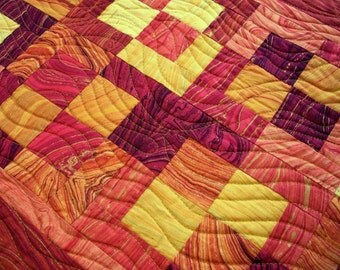 Nature Table Runner Quilt Quilted Sandscapes Sunset Metallic Gold Quiltsy Handmade FREE U.S. Shipping