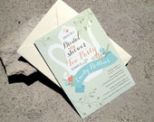 Printable Tea Party Baby or Bridal Shower Invitation