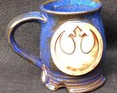 Star Wars Rebel Alliance mug, 10 ounces, blue glaze