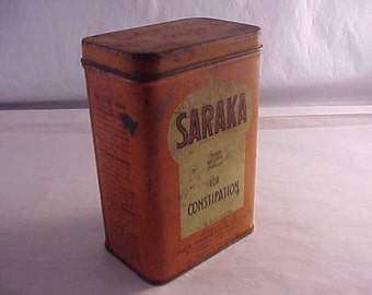 Saraka for Constipation Vintage Advertising Tin
