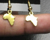 Small Gold Africa Earrings