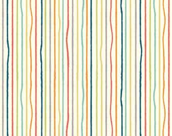 Organic KNIT Fabric - Birch Farm Fresh Knits - Yarn Stripe Multi Knit