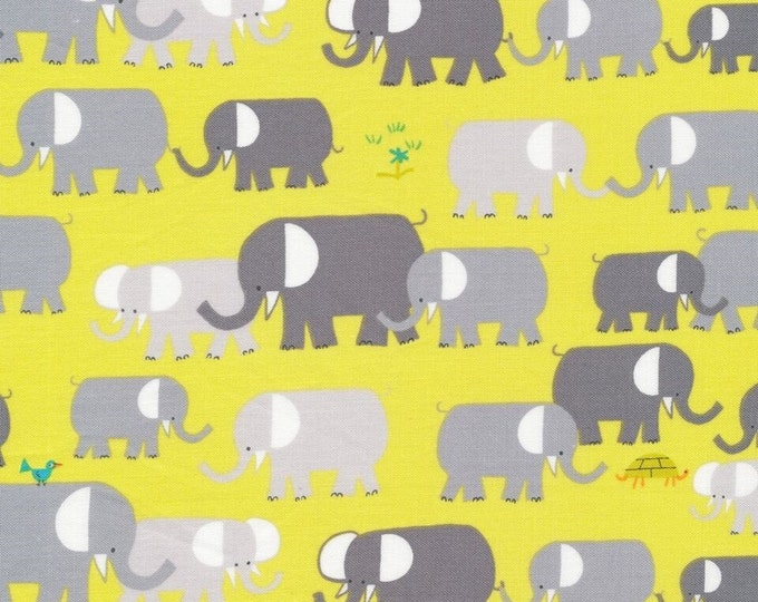 Organic Cotton Laminate - Cloud9 Laminates - Elephants