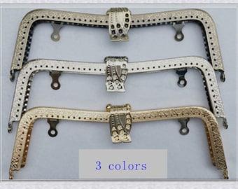 8 inch(20cm)  sewing metal purse frame bag frame clip clutch handbag frame puse frame supply