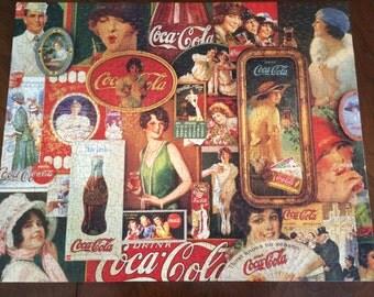 COMPLETE Springbok 1000 Piece Jigsaw Puzzle, Coca Cola, Coke, A Thirst For Nostalgia, Vintage 1982 Hallmark PZL5933
