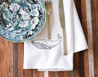 Cloth Napkins - Screen Printed Cloth Napkins - Dinner Napkins - Handmade Cotton Napkins - Cocktail Napkins - Wedding Napkins - Nautical