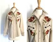 Vintage Western Shirt - H Bar C - cowgirl shirt - rodeo shirt - western wear - womens western shirt - medium