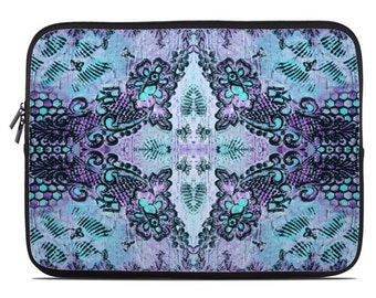 Bohemian laptop cover, tablet cover, tablet sleeve, boho laptop sleeve, laptop case, netbook case, to fit 10, 13, 15, 17 inch