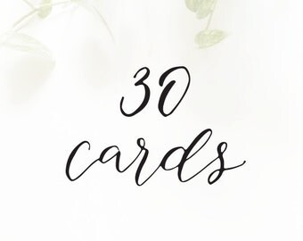30 CARDS - for cards with the SAME customization only