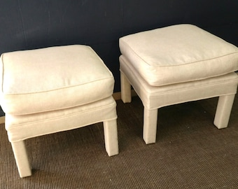 Pair Parsons Stool / Down Topper Lose Pillow