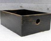 Wooden Box, Wooden Desk Organizer, Wooden Bin