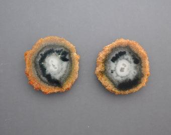 Agate Stalactite Slice Pair