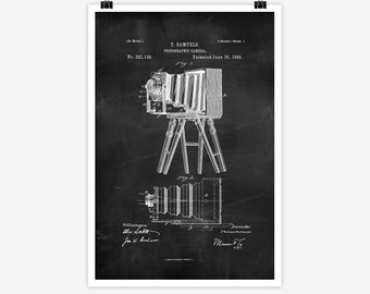 Patent Art Photographic Camera, 1885 - Large Patent Art Print Print Patent Art Print Wall Decor Vintage Art Patent Print Wall Hanging 14.