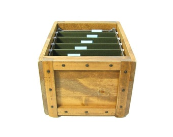 File Organizer, Filing System, File Storage & Organization, Wooden Box for Files, File Holder, File Sorter, Hanging File Box, Filing Box