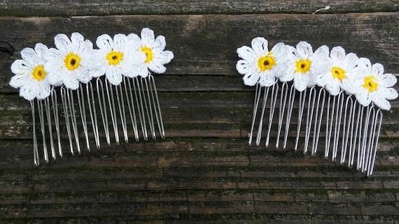 Hair Accessories, Floral Bridal Headpieces ,bridal hair veil pins.