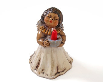 Vintage Angel with Red Candle