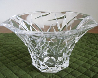 Vintage Waterford Crystal 8 Sided Round Bowl Ceylon Pattern Marquis Collection