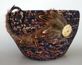 Coiled Basket, Clothesline Basket, Night Flight