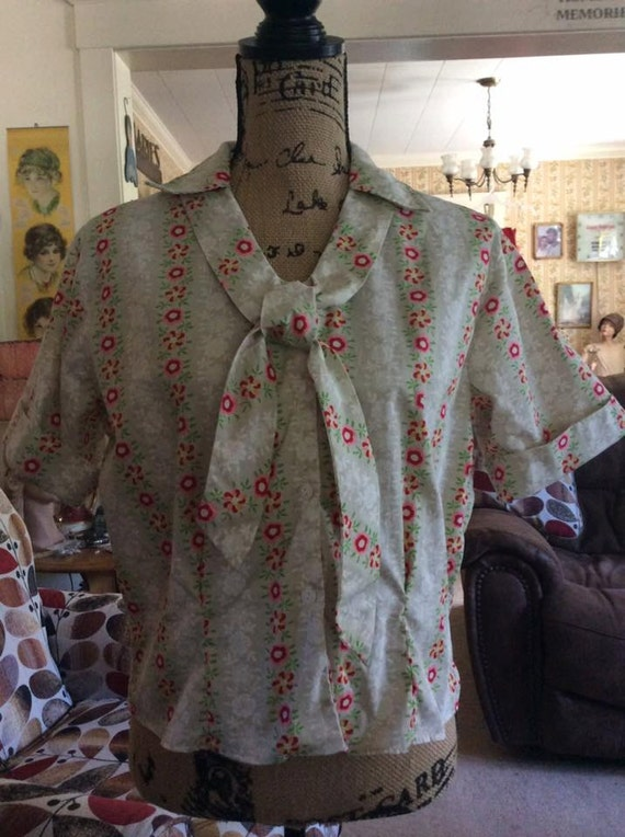vintage 1950s 1960s blouse deadstock with original price tag