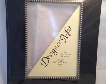 pair of shadow box black mat for 8 X 10 frame silver studs destash lot of 2