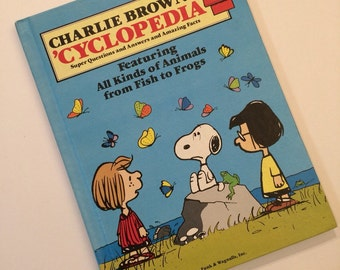 Charlie Brown's 'Cyclopedia Book Vol 2 Featuring All Kinds of Animals from Fish to Frogs Vintage Kids Book