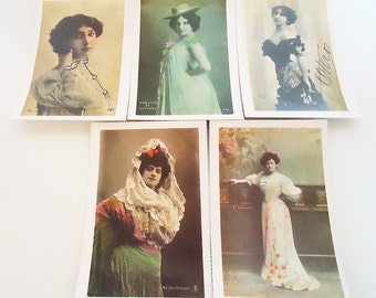 The Five Classic Spanish Artists PostCards.60s