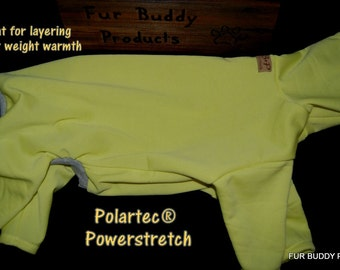 """Polartec® Performance Thermals for Layering or alone as lightweight warmth, will fit all dogs up to 20"""""""