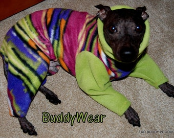 BuddyWear fleece suit for Italian Greyhounds, Hairless Terriers, Cresteds and all small dogs