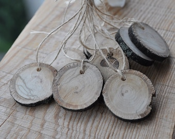 Wood Tags • Natural Linden Wood Gift Tags  • Lovely for gift, for wedding ...