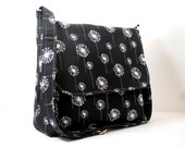 Custom Reserved Listing for N - Black Dandelion Messenger Bag