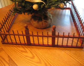Antique Christmas Tree Fence / Feather Tree Fence