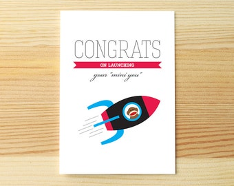 Congrats Baby Rocket Monkey