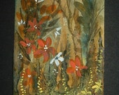 fantasy woodland aceo art painting original watercolour ref 239