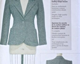 VOGUE Dress Jacket . Claire Shaeffer's Custom Couture Collection UNCUT Sewing Pattern 7467 . Misses Petite Blazer. Size 12 - 14 - 16