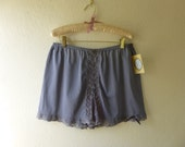 Bloomers M/L Lavender Silver Grey Glam Garb Handmade USA Romantic Knickers Victorian Steam-punk Vintage Hand Dyed Retro Rockabilly Burlesque