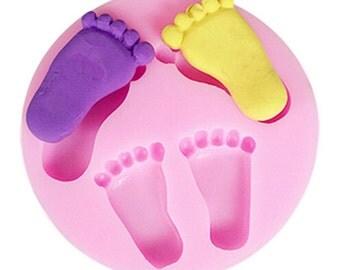 Kawaii baby feet Mold Mould Resin Polymer Clay Wax Chocolate Fondant - silicon mold