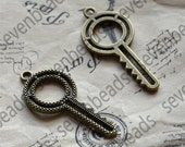 12 pcs key pendant connector Charms,Antique bronze Pendant finding, pendant findings, charm metal finding