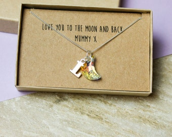 Love You To The Moon And Back' Necklace
