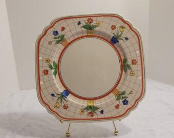 Cottage shabby chic art deco platter plate