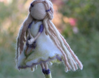Fairy Ornament Needle felted Waldorf inspired Felted Flower fairy ornament  Fairy decor Mobile
