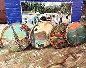Set of 4 - Vintage National Park Poster Set - Rustic Coasters